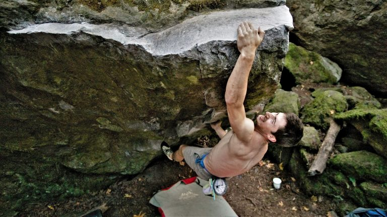Hard bouldering