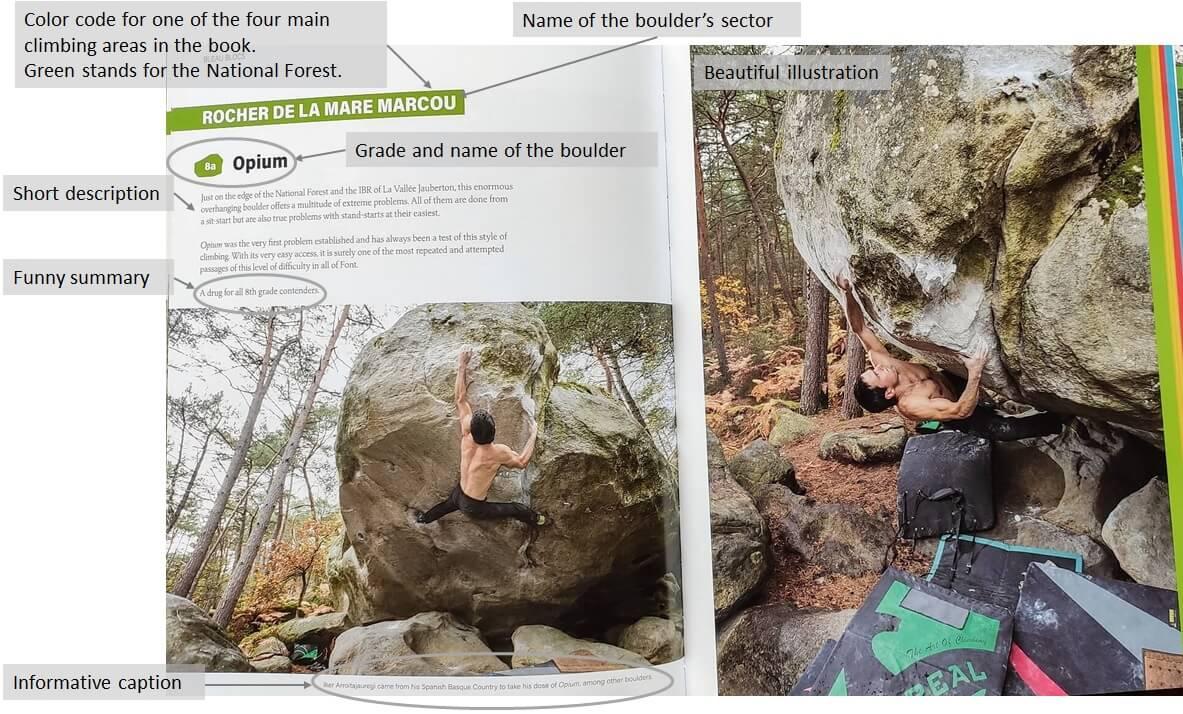 Bleau Blocks Opium 8A Fontainebleau boulder