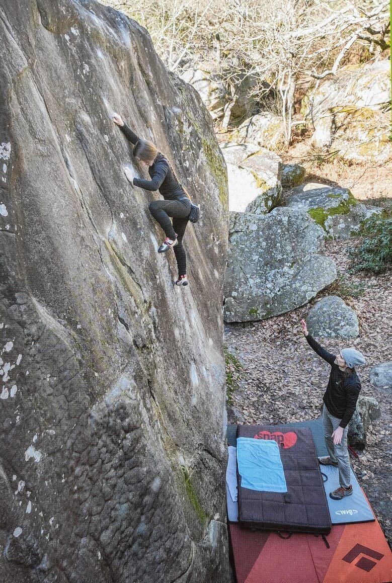 Bleau Blocks Haute Prestation 7C Fontainebleau boulder